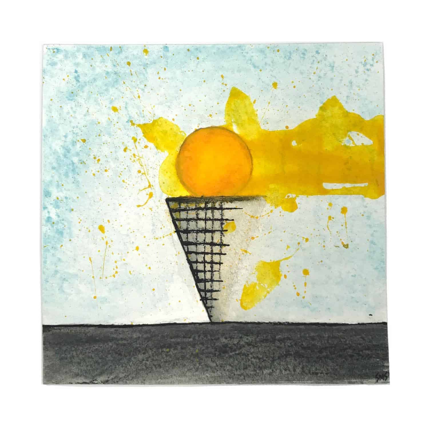 sarah schumacher mixed media painting art haiku word of the day hoi polloi the 100 day project